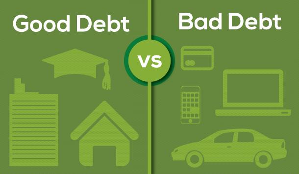 الديون جيد مقابل باد الدين - أي دين أنا مدين؟