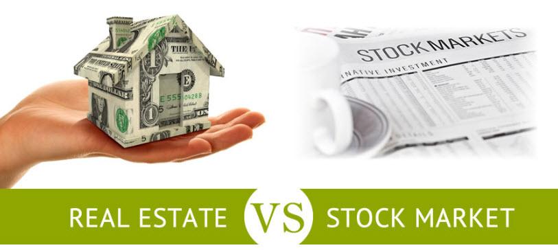 Debe usted invertir en bienes raíces o acciones?  Una comparación de las inversiones inmobiliarias vs Stocks